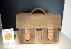 Aktentasche aus Büffelleder erhältlich bei Kirsches Taschen und mehr...! in Bad Vöslau