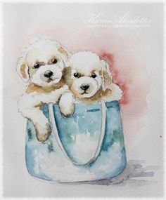 Peppermint Patty's Papercraft: Sunday Watercolors - Dog sketches
