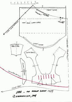 barbie dress pattern (dora) (scale up for bigger dolls)