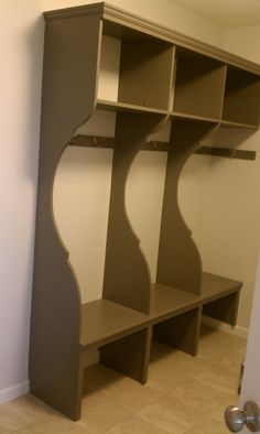woodworking idea for Mud Room coat and shoe storage
