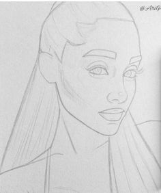 skizzen zeichnen Skizze – – Keep up with the times. Girl Drawing Sketches, Doodle Art Drawing, Cool Art Drawings, Pencil Art Drawings, Realistic Drawings, Drawing Step, Drawing Drawing, Ariana Grande Drawings, Celebrity Drawings