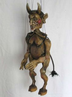 "VSG s.r.o. ""Czech Puppets"" :: Wood marionettes :: Hell, Devil, hand made marionette, wood"