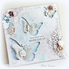 Never Give Up wall hanging - Scrapbook.com....this would be a beautiful card!
