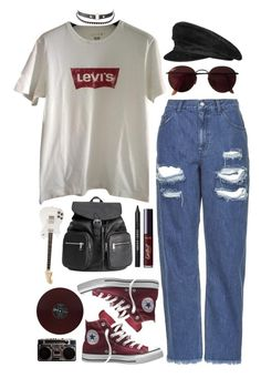 """Closer"" by brigi-bodoki ❤ liked on Polyvore featuring Topshop, Levi's, Converse, Ray-Ban, Charlotte Russe, H&M, Hermès, tarte and Bobbi Brown Cosmetics"