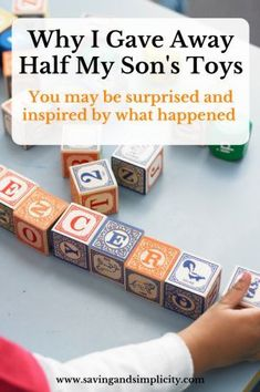 I gave away half my son's toys. My reasons and what we did with the toys may surprise or inspire you. Find out what we did.