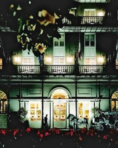 Royal Orleans, New Orleans (many a fuzzy night spent here!) (And Led Zeppelin wrote a song about it!)