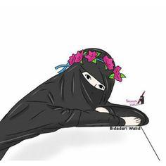 Gambar Kartun Muslimah Bercadar Girl Cartoon, Cartoon Art, Hijab Drawing, Islamic Cartoon, Cute Cartoon Images, Hijab Cartoon, Islamic Girl, Cute Girl Wallpaper, Anime Best Friends