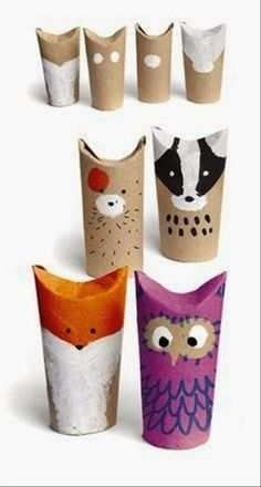 reused tissue roll crafts