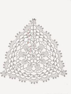 ISSUU - Crochet flower doily by vlinderieke Tops A Crochet, Crochet Bra, Crochet Bikini Pattern, Crochet Motifs, Crochet Diagram, Crochet Chart, Crochet Squares, Irish Crochet, Crochet Doilies