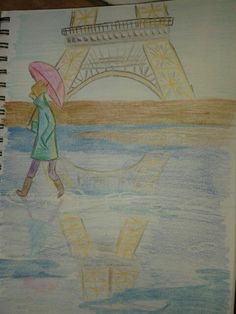 30 day drawing challenge : day Place I want to go. 30 Day Drawing Challenge, Challenges, Paris, Drawings, Painting, Montmartre Paris, Painting Art, Paris France, Sketches