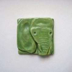 Elephant Tile #HAFshop #Handmade #Artist