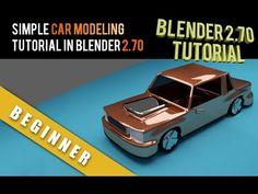 Simple Car Modeling Tutorial In Blender 2.70 (+playlist)