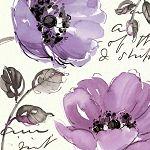 Floral Waltz Plum II by Pela Studio Contemporary Purple Floral Art Print- 18x18