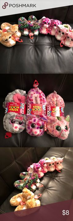 GIRLS they RULE the world!! OMG Girls Slippers Omg How cute are these? Girls beanie boo/baby slippers...available in all sizes! Your princess will love them #chkoutmyotheritems #bundle #makemeanoffer 1 for $8; 2 for $12; 3 for 20 TY Beanie Boo Shoes Slippers