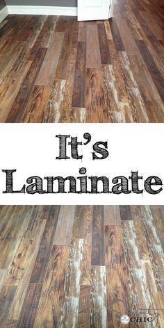 Reclaimed wood flooring.  I can't believe this is laminate!!  So pretty!