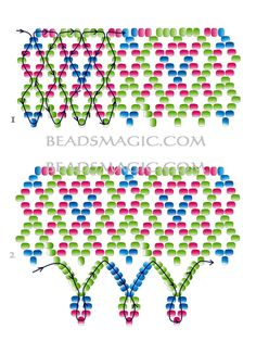 Free pattern for necklace Iren 2
