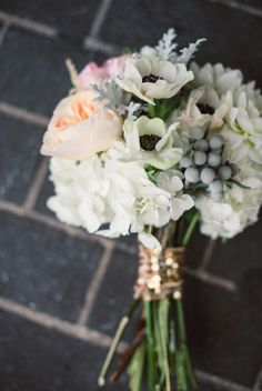 Peony and anemone bridal bouquet | Lori Kennedy Photography |