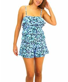 Love this Blue Petal Pusher Fit 4 Ur Hips Swim Romper - Women on #zulily! #zulilyfinds