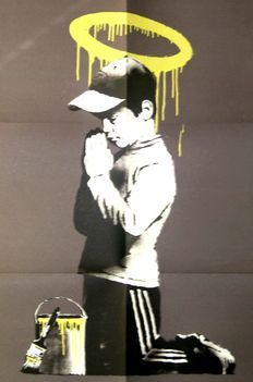 Banksy - Forgive us our trespassing