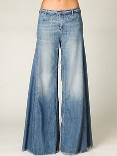 Extra wide bell bottoms