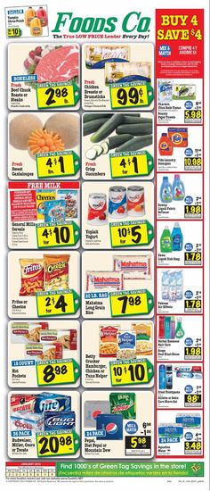 Foods Co 1/2 - 1/8 Weekly Deals & Coupons Matchups