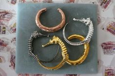 "The new sea horse collection of Genevieve Jones jewelry. All her designs are based on nature and the forces of the universe. She calls it ""u..."