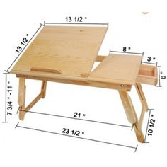 Multi Functional Laptop Cooling Wood Table