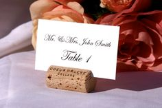 RESERVED Listing for daniela 65 wine cork place card by Gallery360