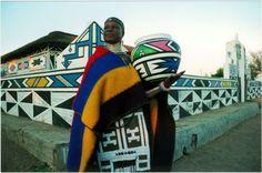 Ndebele artist, Esther Mahlangu. South Africa