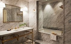 greenwich-bathroom-marble. Lefroy Brooks plumbing and accessory details inspire.