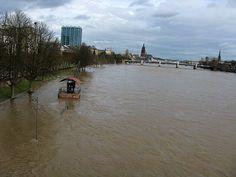 Frankfurt :River flooded January 2011