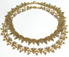 DOUBELL SuperDuo Beadwork Necklace Pdf tutorial by bead4me on Etsy, $8.00