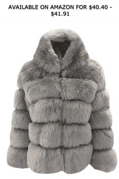 7dabf1f2e01 Esqlotres Women Casual Thicken Winter Warm Faux Rabbit Fur Coat Outwear  Faux Leather ◇ AVAILABLE ON