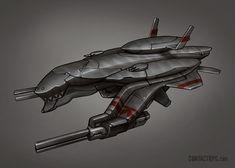 Contact - Barracuda Sub Fighter by Shimmering-Sword.deviantart.com on @deviantART