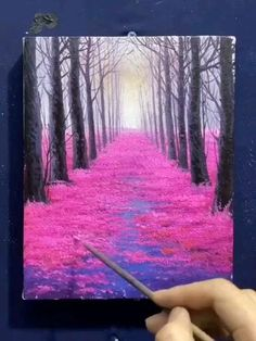Canvas Painting Tutorials, Painting Techniques, Christmas Paintings On Canvas, Easy Canvas Art, Nature Paintings, Watercolor Art, Art Drawings, Online Painting, Painting Art