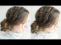 Messy Braided Bun Hairstyle | Everyday Hairstyles | Braidsandstyles12 - YouTube