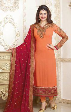 Amazing Deep #Orange Salwar Suit Set @ http://www.indiandesignershop.com/product/amazing-deep-orange-salwar-suit-set/