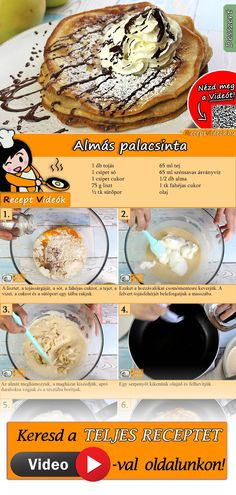 Bei diesem Pfannkuchen Rezept für Apfelpfannkuchen geht es ganz um den leckeren… This pancake recipe for apple pancakes is all about the delicious pancake batter. You can easily find the apple pancake recipe video using the QR code :] pancakes Sour Cream Pancakes, Tasty Pancakes, Homemade Pancakes, Classic Pancake Recipe, Apple Pancake Recipe, Apple Recipes, Sweet Recipes, Pork Recipes, Pancakes Recipe Video