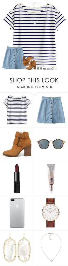 """""""going to try and post more!"""" by hopemarlee ❤ liked on Polyvore featuring H&M, WithChic, Steve Madden, Ray-Ban, NARS Cosmetics, Urban Decay, Daniel Wellington, Kendra Scott and Carolee"""