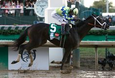 Always Dreaming, ridden by John Velazquez, captured the 143rd running of the Kentucky Derby on a soggy Saturday at Churchill Downs.