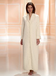 Ladies mock quilted button through floral dressing gown robes with ... : ladies quilted dressing gowns - Adamdwight.com