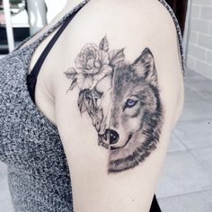 wolf tattoo © Hon Tattoo Studio Toronto