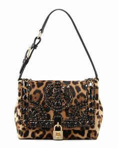 Miss Dolce Leopard-Print Calf Hair Shoulder Bag by Dolce & Gabbana at Neiman Marcus.