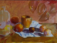 On the desk canvas 30x40cm