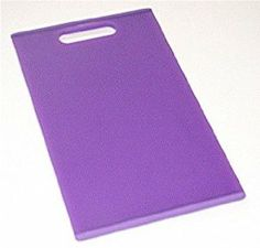 Colour Grip 16-inch Cutting Board, Purple . $16.95. Non-slip edge grips countertop. Made of high density polypropylene for a durable cutting surface. Top shelf dishwasher safe. Soft, sure-grip Santoprene edge. Provides both a durable cutting surface and a splash of color to your kitchen.