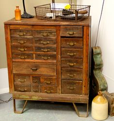 Industrial Multi-Drawer Cabinet (SOLD)