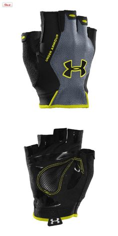 Under Armour Men's CTR Trainer HF Gloves Large Black, Lightweight performance fit geared to protect without hindering your workout. HeatGear® and mesh fabric allow breathability and dry quickly, keeping your hands light and cool. Signature Moisture Tran..., #Sporting Goods, #Gloves