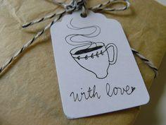 cute tag illustration coffe cup kaffee zeichnung schild love süß