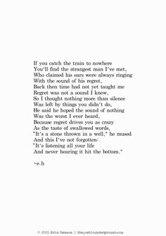 "thepoeticunderground: ""Regret""April 14th 2015 One year ago today! I'm still proud of this one"