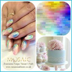 Summer salon nails with #mosaic products! Love the colours. #mosaic #gel #gelnails #gelpaint #salon #salonnails #salondesign #summer #idonails #ilovenails #thisiswhatido #susan #susansnails #susansnailstore #peterborough